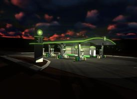 BP Gas Station Concept by penguinluv4ever