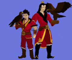 Fire Nation OC Contest- A day of Hawking by Czarina-Wolf