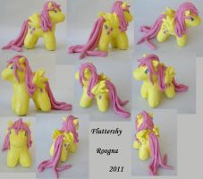 Fluttershy Sculpture by Roogna