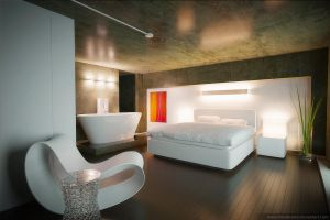 Loft Bedroom 01 by drewbrand