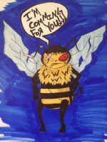 an exact representation of the bee that stung me.. by abbeydeath