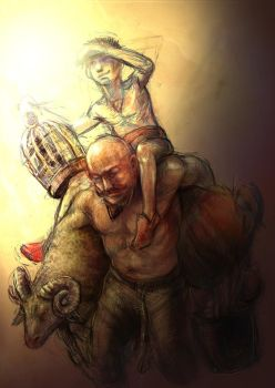 wrestler2 father and son by claymoreclay