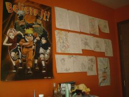 Wall of Naruto by Ladywiththeface