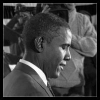 Barack Obama 1 - BW by ceasetobeme
