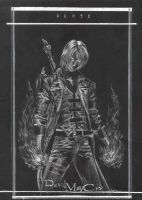 devil may cry scratchboard by minishinigami