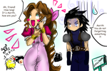 Aerith and Zack in the lifestream by Ueki2013