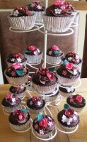 Chocolate rose cupcakes by S-y-c