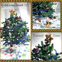 Fuzzy Christmas Tree $25 by Roses-to-Ashes