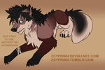 Cyprian Wolf Form by zCyprian