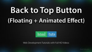 Floating Back to Top Button with jQuery by eds-danny