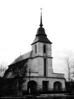 Catholic church in Rozhysche (Ukraine) by ArthurGautama