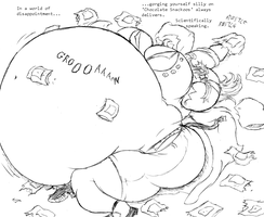 Scientific Skye, Swollen and Stuffed with Snackoos by Saxxon