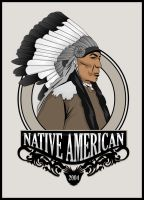 Vector Art - Native American by rames