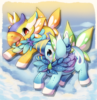 [G] Spark and Bubbles by Midna01