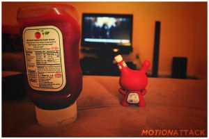Father and Son Ketchup by motion-attack