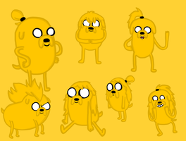 The Many Shape Shifty Hairstyles of Jake by Sphere-of-Fantasy