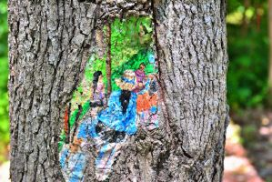 Tree Knot Painting by sioranth