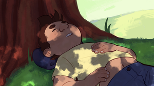 sleeping by gingerbreadcat