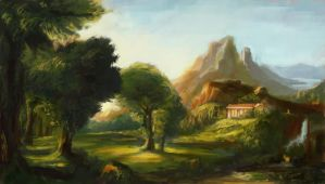 Thomas Cole Dreams of Arcadia by Foggylights
