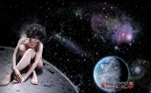 Sitting on the moon by JoshuaDuLac
