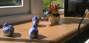 Completed cyndaquil. by dobharachu