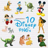 10 Disney PNG files by camiluchiiz