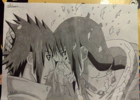 Sasuke and Itachi by Art3miys