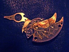 Steampunk bird by Amazon-Butterfly