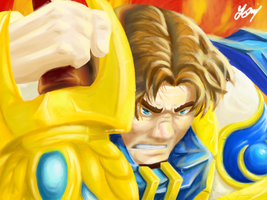 Garen the Might of Demacia by Bewoolf
