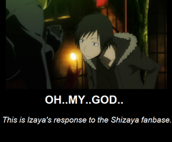 Izaya motivational poster by ShadedinMisfit