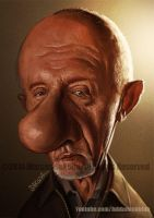 Mike Ehrmantraut Caricature - Breaking Bad by Jubhubmubfub