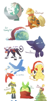 Christmas Pokemon gifts by Luunan