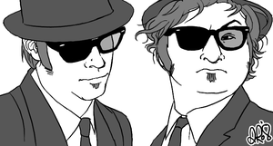 Jake and Elwood by Shikalee
