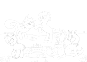HUGE PONY PIC WIP by MBPanther