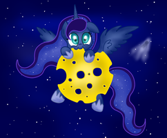 Cheese Moon for Luna by LouderSpeakers