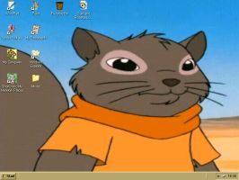 Sam Squirrel DeskTop by GreenSkullplz