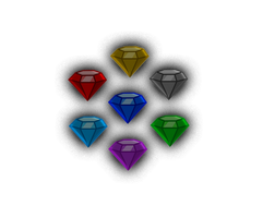 Chaos Emeralds MLP style (corrupted) by Snicketbar