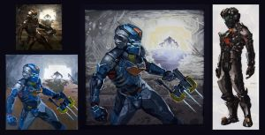 Dead Space in Gouache Process by PRATT-FACE