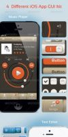 4 Different iOS App GUI kit by ottoson