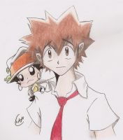 Tsuna and Reborn by Iwama-chan