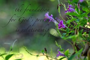The foundation for God's promises is relationship by miades