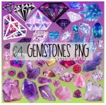64 Gemstones PNG by amortentia15