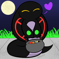 Snake or Treat by DeathToSquishies