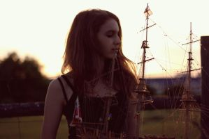 Girl with ship by chantal-olivia