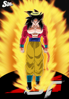 Goku SSJ4 Coming Back To Life - Poster by SaoDVD