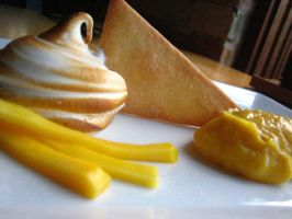 Deconstructed Mango Meringue by greensprout