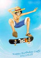 Happy birthday Luffy by TaiyoHisakawa