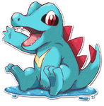 158 Totodile by SarahRichford