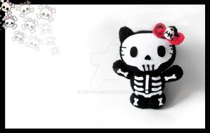 Skeleton Hello Kitty Amigurumi by LeFay00