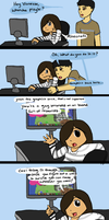 Introducing dad to Minecraft by popcorn1010